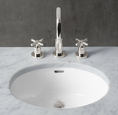 RH's Gramercy Double Metal Washstand with Backsplash:Custom sinks that balance classic style and modern flair.