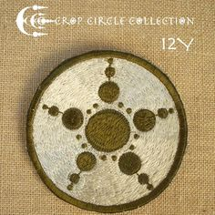 Crop Circle Collection - Handmade Sacred Geometry Embroidery patch (12Y)