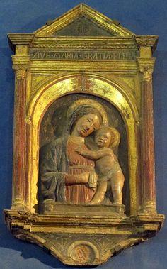 Luca della Robbia (bottega) - Madonna col bambino - Museo Stefano Bardini - Firenze