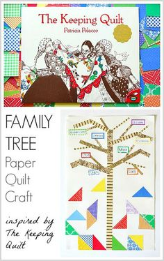 Family Tree Craft for Kids (Inspired by Patricia Polacco's The Keeping Quilt)~ BuggyandBuddy
