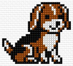 Free cross-stitch design & 34 x 31 stitches 3 colors Cross Stitch Baby, Cross Stitch Animals, Cross Stitch Flowers, Cross Stitch Charts, Cross Stitch Designs, Cross Stitch Patterns, Cross Stitching, Cross Stitch Embroidery, Beaded Cross Stitch