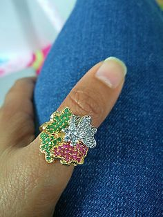 Bollywood style Partywear bridal Indian wedding imitation Ring artificial