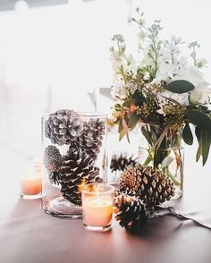 Winter wedding decorations diy wedding ideas regarding great diy winter wedding ideas best winsome wedding centerpieces with branches diy image of styles branch for weddings jpg winter budget wedding winter wonderland and wedding on Winter Wedding Centerpieces, Rustic Wedding Centerpieces, Wedding Table Centerpieces, Flower Centerpieces, Table Decorations, Centerpiece Ideas, Pinecone Centerpiece, Simple Centerpieces, Wedding Rustic
