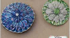 Reciclaje. Broches florales capsulas Nespresso.