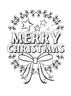 The Greeting Merry Christmas Coloring Pages
