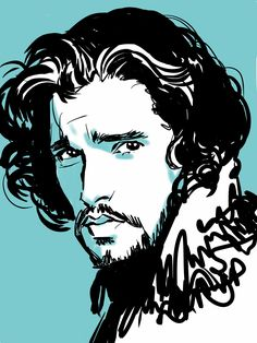 Jon Snow this artist perfectly captured his expression