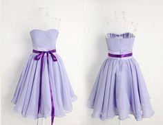 3 Colors Romantic Angel Purple Elegant Gown/ Bridesmaid