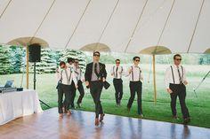 groom and groomsmen entrance