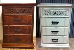 Chest of drawers Makeover. Painted by A to Z Custom Creations with La Craie's Silver Mink
