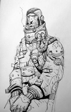Another space geezer: illustration sketches, character illustration, art sketches, art drawings, Illustration Sketches, Character Illustration, Art Sketches, Art Drawings, Character Sketches, Character Design Animation, Character Art, Comic Books Art, Comic Art