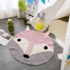 Fox Knitted Baby Play Mat