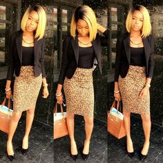 Leopard print skirt blazer bag