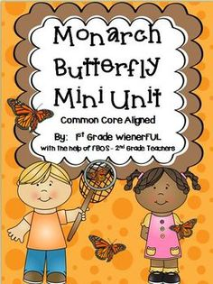 Monarch Butterfly Mini Unit~Simple Research for Young Learners! AUTUMN IS MONARCH TIME! Great for 1st or 2nd Grade!!!! Freebie in the download preview! :o)