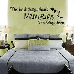 Making Memories Decal, Home Decor, Romantic Quote