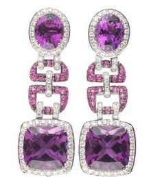 Amethysts and diamonds. Asprey.