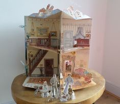 POP UP 3D EDWARDIAN DOLL HOUSE BOOK with card figures,Ted Smart,B & L Saunders | eBay