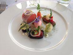 Salmon five ways thanks to Martijn Kajuiter at Cliff House Hotel.