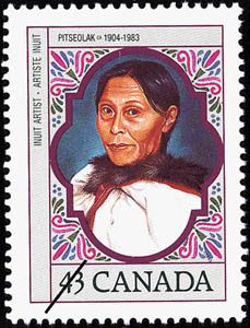 Pitseolak was one of four Canadian women featured on a series of postage stamps released in 1993. The other three were Helen Alice Kinnear, Adelaide Hoodless, and Marie-Joséphine Gérin-Lajoie.