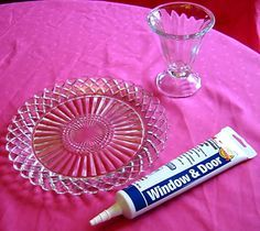 Make your own cake stand! With my idea's for the wedding we will need a few of these!