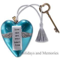 Set Your Heart Free Art Heart Sculputre by DEMDACO 1003480007