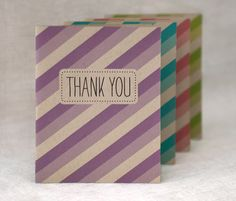 striped thank you cards