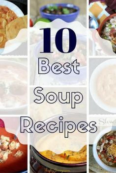 Below I've rounded up 10 of my favorite soup recipes for you. Best Soup Recipes, Chowder Recipes, Chicken Soup Recipes, Quick Recipes, Chili Recipes, Amazing Recipes, Yummy Recipes, Easy Meals For Kids, Easy Family Meals