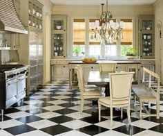 Traditional country kitchens are a design option that is often referred to as being timeless. Over the years, many people have found a traditional country kitchen design is just what they desire so they feel more at home in their kitchen. Home, Home Kitchens, Kitchen Remodel, Kitchen Design, Kitchen Flooring, Country Kitchen, French Country Kitchens, Kitchen Style, French Country Kitchen