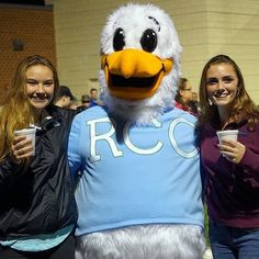 Here's Squall the Seagull (the official mascot of Rappahannock Community College) posing with some new friends that he made during his visit to King George High School as the Foxes hosted Caroline. Thank you for having us! It was a great time! #rappahannock #community #college #comm_college #fridaynightlights #kinggeorge #kinggeorgecounty #rccfall