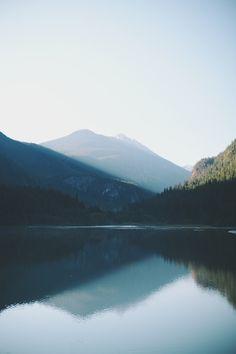 Morning rays on Diablo Lake, North Cascades NP ➾ Jayme Gordon