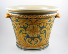 "Italian ceramics planter ""late 1600"" 