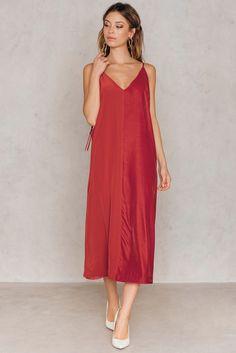 Nabras Dress Autumn Red