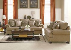 Alabama Furniture Market Minimalist Ashley Furniture Yvette  Steel Stationary Sofa W Loose Seat .