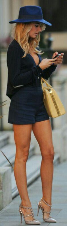 Navy Blue Street Fashion