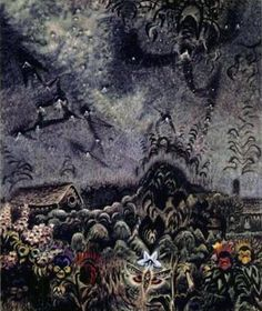 Charles Burchfield -The Sphinx and the Milky Way-1946
