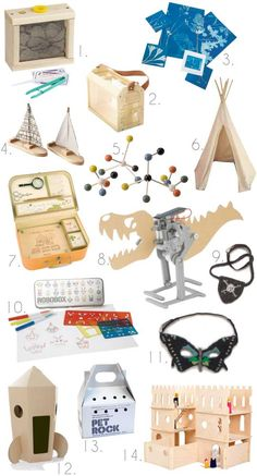 Gifts for Scientists & Explorers Apartment Therapy Gift Guide 2012 - great gifts for inquisitive kids. Love this so much more than classic 'toys r us' toys.