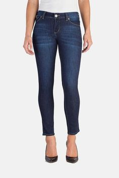Description These super-stretch jeans provide the ultimate in comfort and free-movement and will keep their shape all day, every day. Our New Vintage Blue Audrey made with dualFX® Technology by LYCRA®