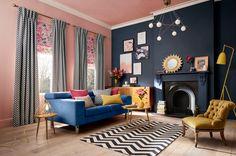 Home Interior Salas .Home Interior Salas Best Interior Design Blogs, Home Interior, Contemporary Interior, Interior Ideas, Gray Bedroom, Trendy Bedroom, Room Colors, House Colors, Grey Bedroom With Pop Of Color