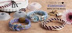 Beautiful Spring Ready Kumihimo Braids. Get all your kumihimo brading supplys at GoodyBeads.com