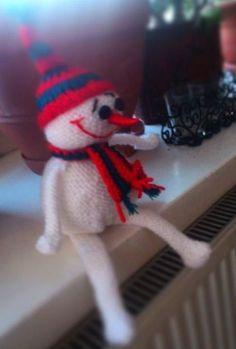 For my friend Brawurka (The Powepuff Girls - Buttercup), Christmas gift knitted snowman