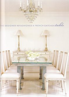 """""""the designer refashioned a French gate as a table"""""""