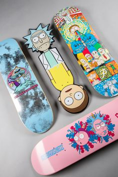 - Skate -Skate - Skate - Sailor Moon Princess iphone Case Wubba Lubba Dub Dub 💦 You definitely won't want to miss out on the new Primitive x Rick and Morty decks! Penny Skateboard, Painted Skateboard, Skateboard Deck Art, Skateboard Design, Skateboard Girl, Girls Skate, Surf Girls, Spitfire Skate, Skate Maloley