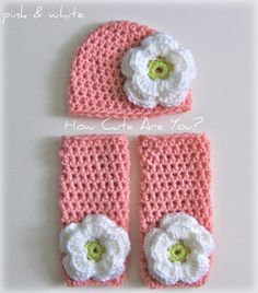 Baby Girl Leg Warmers and Hat