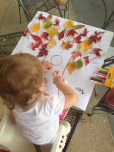 Fall tree, fine motor, toddler activity, arts and crafts, selectionsbysisters #selectionsbysisters