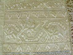Italian Needlework: Whitework Sampler in the Palazzo Davanzati