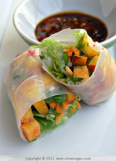 Peachy Vietnamese Summer Rolls -- screw summer, I want these NOW.