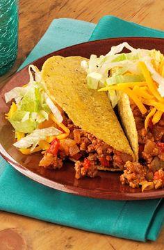 Low FODMAP Recipe and Gluten Free Recipe - Turkey chili tacos    http://www.ibs-health.com/low_fodmap_turkey_chili_tacos.html
