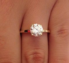 1.00 CT ROUND CUT D/SI1 DIAMOND SOLITAIRE ENGAGEMENT RING 14K GOLD - EXCLUSIVE DEAL! BUY NOW ONLY $1350.0