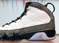 "#10 Air Jordan IX Doernbecher ""Pollito"". I have to be completely honest. I am not the biggest fan of the Jordan IX, but these blew me away. Designed by Oswaldo Jiminez, Jordan brand really brought out some premium materials and did not slack on a single detail for this sneaker. 3M, ice sole, gold lace eyelets, and the beautiful etched gold weaving really made this a must-have for a Jordan fanatic like myself."