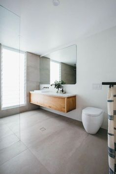 Long Jetty Renovation Ensuite Reveal – Home living color wall treatment kitchen design Laundry In Bathroom, Bathroom Inspo, Bathroom Renos, Bathroom Renovations, Bathroom Inspiration, Small Bathroom, Master Bathroom, Bathroom Large Tiles, Zen Bathroom
