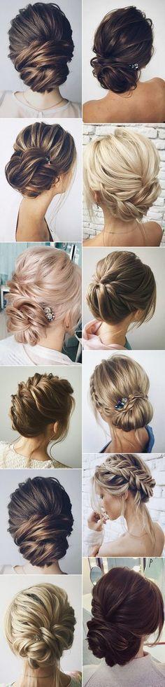 elegant bridal updos wedding hairstyles #WomenHairstylesUpdos